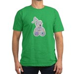 Butterfly Kisses Teddy Bear Men's Fitted T-Shirt (