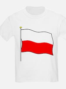 Poland Flagpole Kids T-Shirt