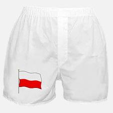 Poland Flagpole Boxer Shorts
