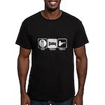 Eat. Sleep. Hunt. Men's Fitted T-Shirt (dark)