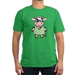 Dressed Up Cow Men's Fitted T-Shirt (dark)