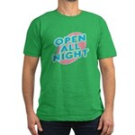 Open All Night Neon Sign Grap Men's Fitted T-Shirt