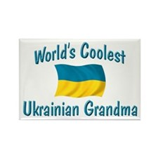 Coolest Ukrainian Grandma Rectangle Magnet