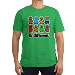 Be Different Ducks Men's Fitted T-Shirt (dark)