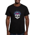 Cycling Skull Head Men's Fitted T-Shirt (dark)