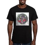 Alien on Hovercraft Men's Fitted T-Shirt (dark)