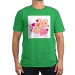 Cute Little Cupid Shooting Ar Men's Fitted T-Shirt