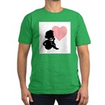 Valentine Silhouette Thinking Men's Fitted T-Shirt