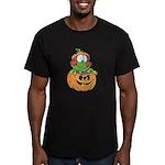 Silly Froggy in Pumpkin Men's Fitted T-Shirt (dark