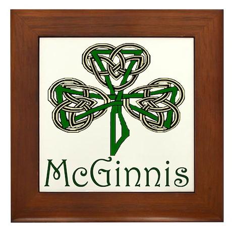 McGinnis Shamrock Framed Tile