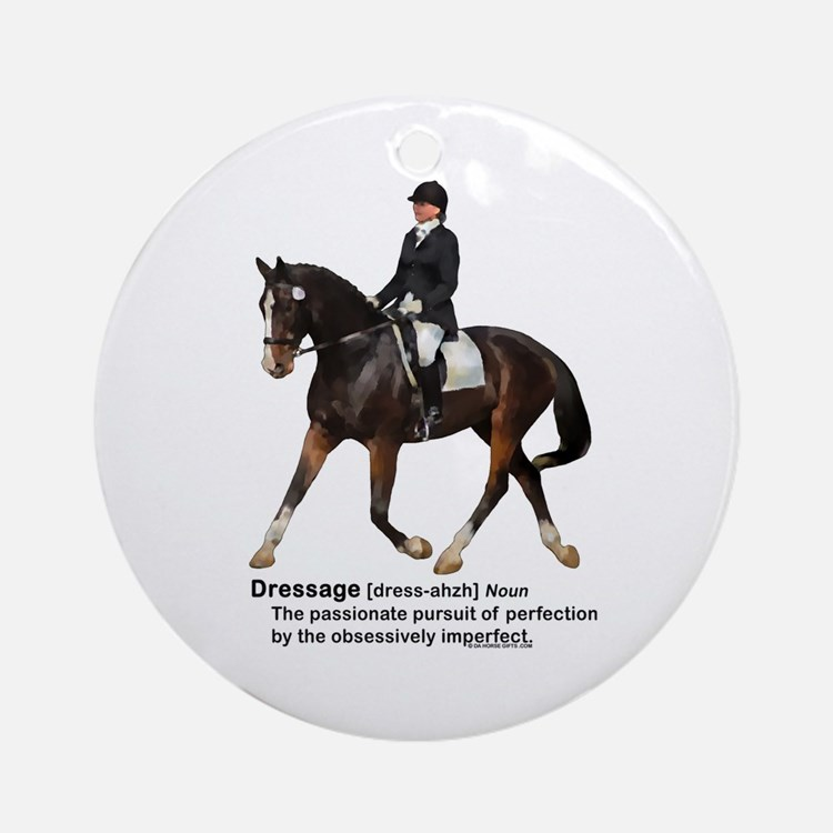 Dressage Horse Dictionary Ornament (Round)