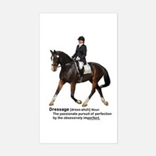 Dressage Horse Dictionary Sticker (Rectangle)