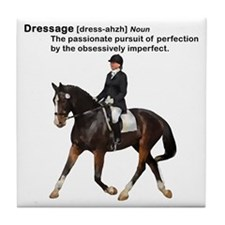 Dressage Horse Dictionary Tile Coaster