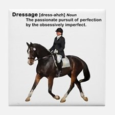 Dressage Horse Dictionary Tile Coaster