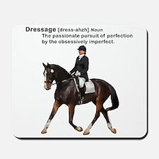 Dressage Horse Dictionary Mousepad