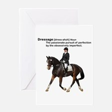 Dressage Horse Dictionary Greeting Card