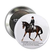 "Dressage Horse Dictionary 2.25"" Button"