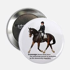 "Dressage Horse Dictionary 2.25"" Button"