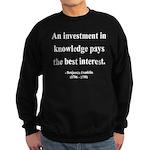 Benjamin Franklin 21 Sweatshirt (dark)