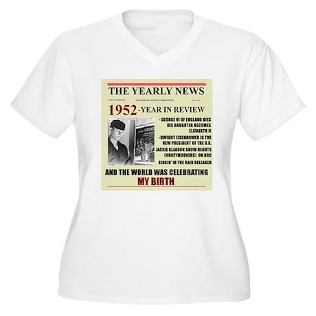 1952-BIRTH Women's Plus Size V-Neck T-Shirt