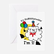 UnBAAlievable 1st Birthday Greeting Card