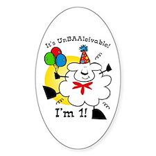UnBAAlievable 1st Birthday Oval Decal