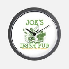 Joe's Irish Pub Personalized Wall Clock