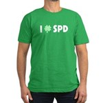 I Love SPD Men's Fitted T-Shirt (dark)