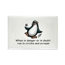Screaming Penguin Rectangle Magnet