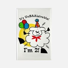 UnBAAlievable 2nd Birthday Rectangle Magnet
