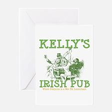Kelly's Irish Pub Personalized Greeting Card