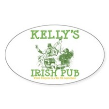Kelly's Irish Pub Personalized Oval Decal