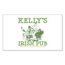 Kelly's Irish Pub Personalized Rectangle Decal