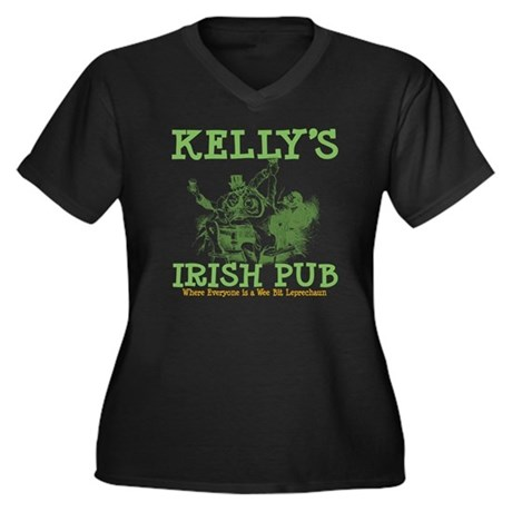 Kelly's Irish Pub Personalized Women's Plus Size V