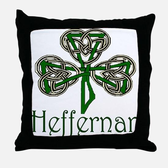 Heffernan Shamrock Throw Pillow