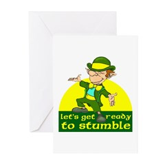 Let's Get Ready To Stumble Greeting Cards (Pk of 1