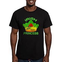 Irish Princess With Crown Men's Fitted T-Shirt (da