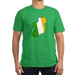 Tricolor Map of Ireland Men's Fitted T-Shirt (dark