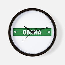 Obama Street Sign Wall Clock