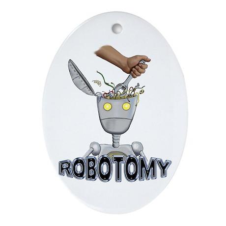 ROBOTOMY Oval Ornament