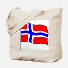 Norway Flagpole Tote Bag
