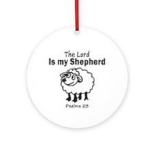 23 Psalm Ornament (Round)