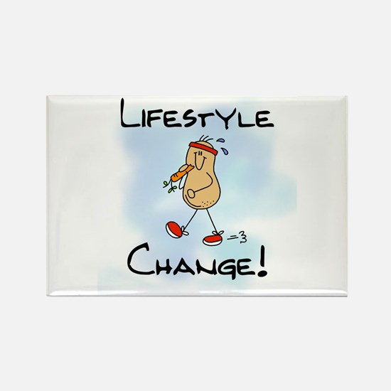 Peanut Lifestyle Change Rectangle Magnet