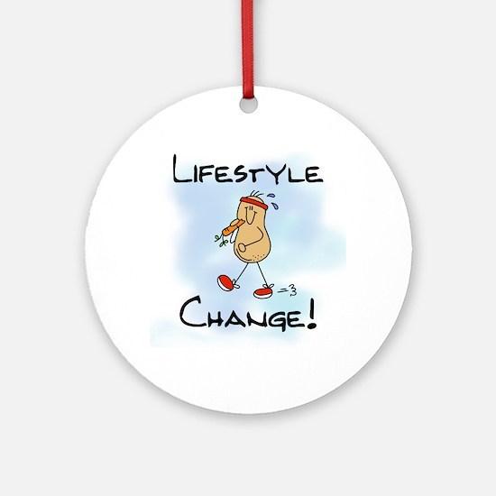 Peanut Lifestyle Change Ornament (Round)