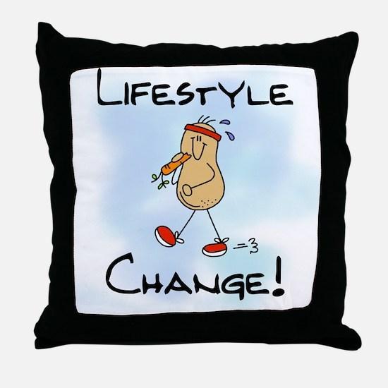 Peanut Lifestyle Change Throw Pillow