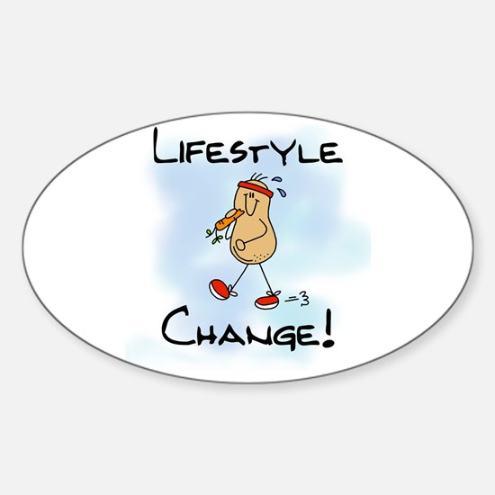 Peanut Lifestyle Change Oval Bumper Stickers