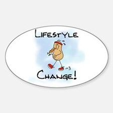 Peanut Lifestyle Change Oval Decal