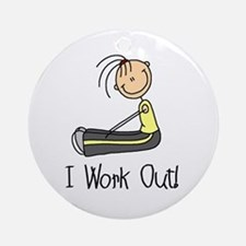 Female I Work Out Ornament (Round)