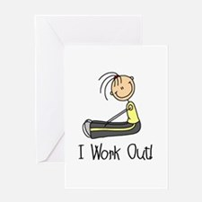 Female I Work Out Greeting Card