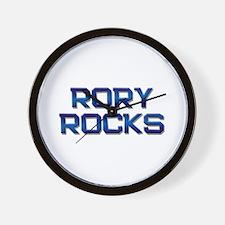 rory rocks Wall Clock